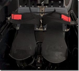 Wintech quick release velcro foot straps