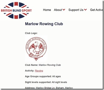 British Blind Sport entry